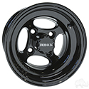 RHOX Indy, Black w/ Center Cap, 10x7 ET-22