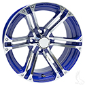 AC568, Machined with Blue, 15 x 6 ET-25