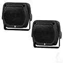 "4""x4"" Box Poly-Planar 80 Watt (per pair) Waterproof Speakers Only- Set of 2"